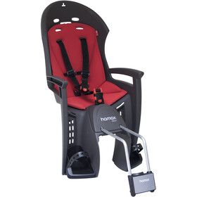 Hamax Smiley Seggiolino con staffa bloccabile, black/red